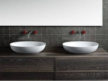 Vasque à poser ovale en Cristalplant® design FISHER ISLAND | Lavabo