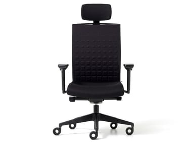 Polypropylene executive chair with 5-spoke base with headrest FIT | Executive chair