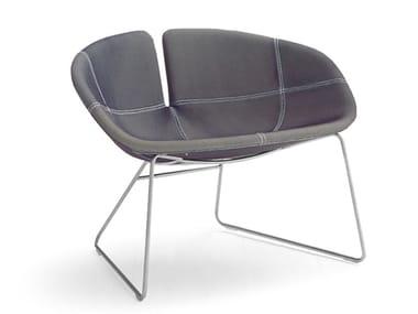 Sled base armchair FJORD   Sled base armchair