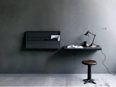 Wooden secretary desk / wall shelf FJU