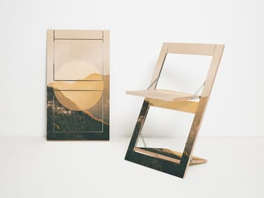 Folding plywood chair FLÄPPS FOLDING CHAIR - ALPS