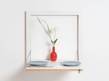 Tavolo a muro da cucina in compensato FLÄPPS KITCHEN TABLE - WHITE