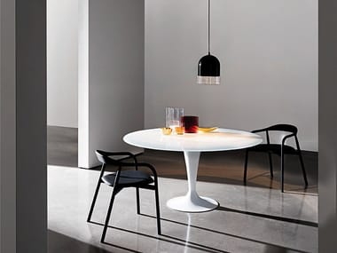Round glass table FLÛTE | Round table