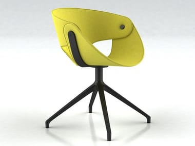 Trestle-based fabric chair FL@T | Fabric chair