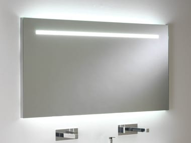 Rectangular bathroom mirror with integrated lighting FLAIR