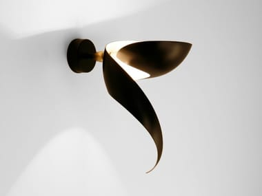 Direct-indirect light metal wall light FLAMME