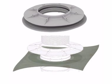 Polypropylene Pipe fixing system and collar FLANGE FOR SYPHONED GULLY