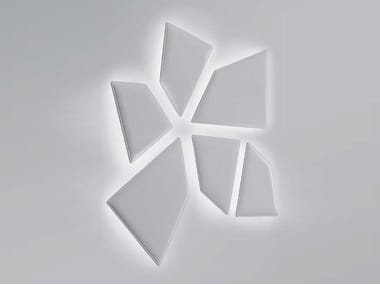 Fabric Decorative acoustic panel with Integrated Lighting FLAP LUX | Decorative acoustic panel with Integrated Lighting