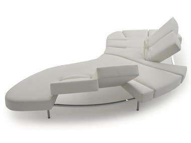 Sofá curvo reclinável de pele FLAP
