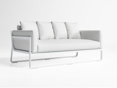 2 seater thermo lacquered aluminium sofa FLAT | Sofa