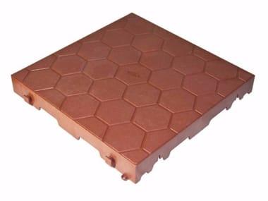 Closed tile for garden FLAT TILE