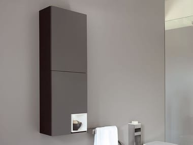 Wooden bathroom wall cabinet FLAT V