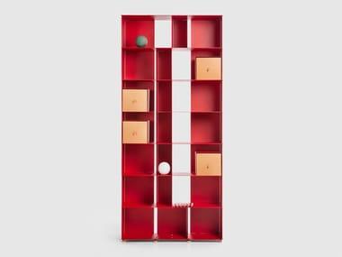Open aluminium bookcase FLAT