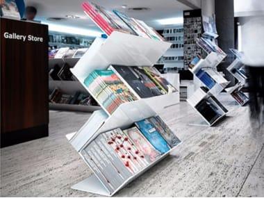 Freistehendes Double Sided Bücherregal Aus Stahl FLATLINER FREESTAND