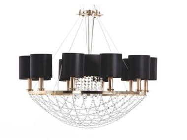 Metal chandelier with crystals FLAVIA | Chandelier