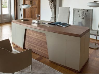 Walnut executive desk FLAVIO
