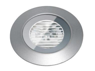 Segnapasso a LED a pavimento in metallo per esterni FLEA.T35 | Segnapasso in metallo