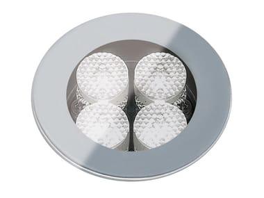 Segnapasso a LED a pavimento in vetro per esterni FLEA.T80 | Segnapasso in vetro