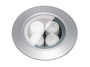 Segnapasso a LED a pavimento in metallo per esterni FLEA.T80 | Segnapasso in metallo