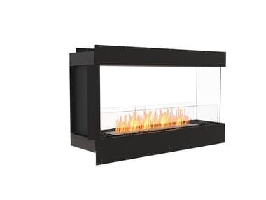 Bioethanol steel Fireplace insert with Panoramic Glass FLEX 50PN
