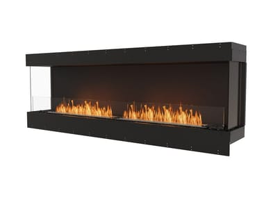 Bioethanol steel Fireplace insert with Panoramic Glass FLEX 86BY