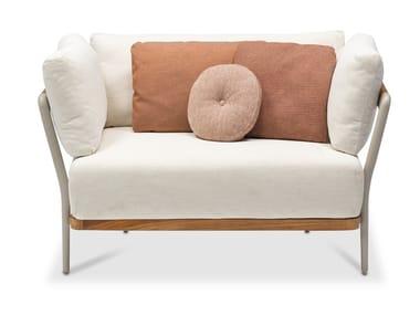 Gepolsterter Gartensessel aus Stoff mit Armlehnen FLEX   Sessel