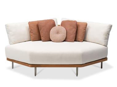 Upholstered corner fabric garden armchair FLEX | Corner armchair