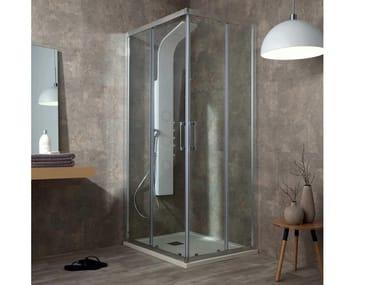 Box doccia angolare con porta scorrevole FLEX | Box doccia angolare