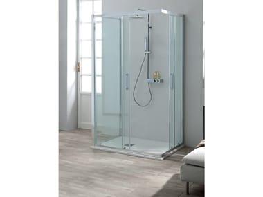 Box doccia centro parete FLEX + FISSO | Box doccia centro parete