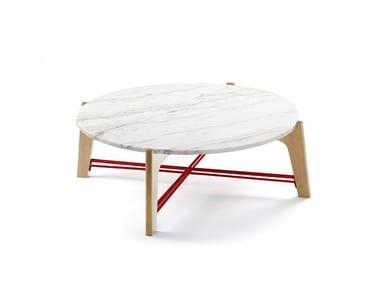 Mesa de centro baixa redonda de mármore FLEX | Mesa de centro baixa
