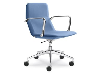 Task chair with 5-Spoke base with armrests FLEXI CHL-BR-F50