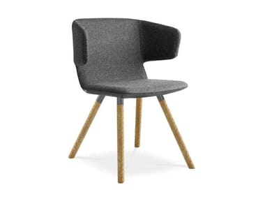Upholstered fabric chair FLEXI P-D