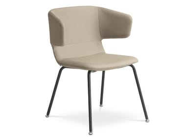 Upholstered fabric reception chair FLEXI P-K-N1