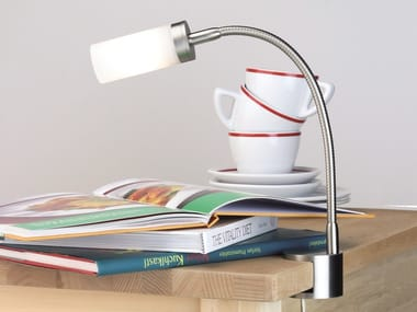 Lampada da tavolo orientabile con morsetto flexlight screw