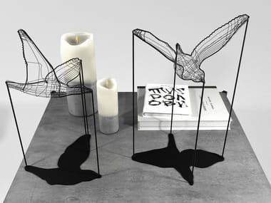 Metal decorative object FLIGHT SHADOWS