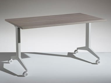 Folding wooden office desk with flip-top FLIP