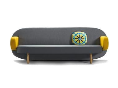 Divano in tessuto a 3 posti con schienale alto FLOAT | Divano a 3 posti