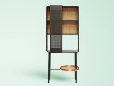 Lacquered metal display cabinet FLOAT | Metal display cabinet