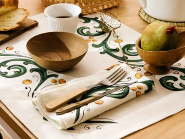 Breakfast set (6 placemats + 6 napkins) FLORAL   Placemat
