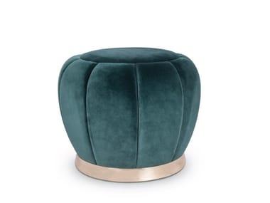 Round fabric pouf FLORENCE | Pouf