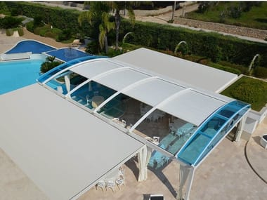 Freestanding pergola with sliding cover FLORIDA