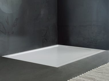 Built In Custom Solid Surface Shower Tray FLOW | Built In Shower Tray
