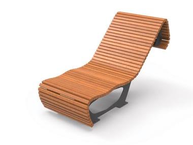 Seduta da esterni in legno FLOW | Seduta da esterni