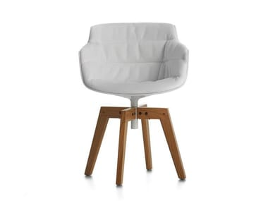 Chair with armrests FLOW SLIM COLOR | Chair