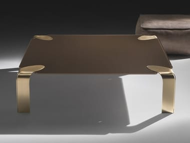 Square crystal coffee table FLOW | Square coffee table