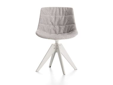 Cadeira giratória estofada de tecido com cavalete FLOW TEXTILE   Cadeira com cavalete