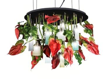 LED recessed ceiling lamp FLOWER POWER ANTHURIUM ROUND