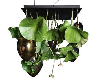 Recessed glass ceiling lamp FLOWER POWER LOTUS