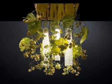 LED ceiling lamp FLOWER POWER PHYSALIS ANTHURIUM