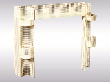 Perforated metal plant pot FLOWERSTAND